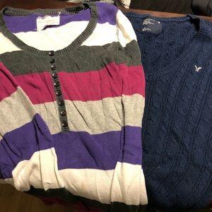 Large AE and Aeropostale sweaters